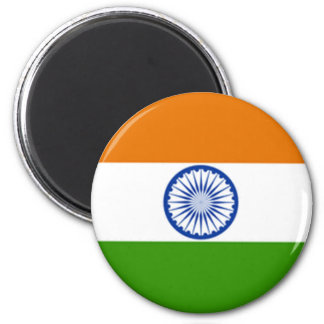 Indian Flag 2 Inch Round Magnet