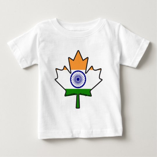 Indian Flag Maple Leaf Baby T-Shirt