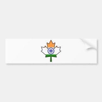 Indian Flag Maple Leaf Car Bumper Sticker