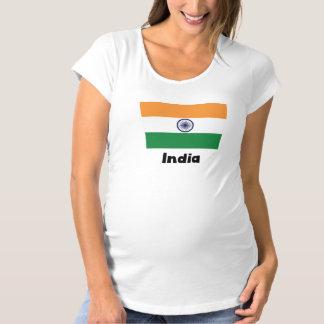 Indian Flag Maternity T-Shirt
