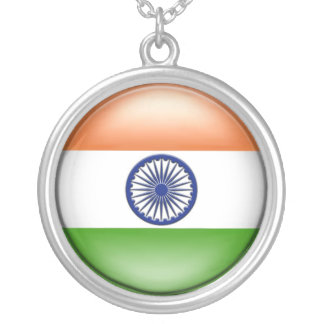 Indian Flag Round Pendant Necklace
