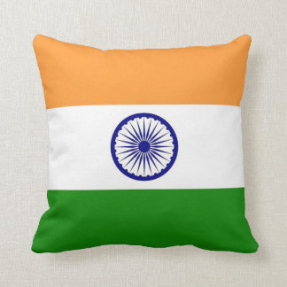 Indian Flag on American MoJo Pillow