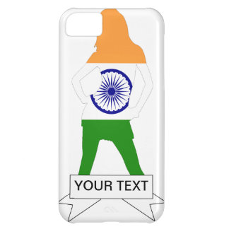 Indian flag on any color case for iPhone 5C