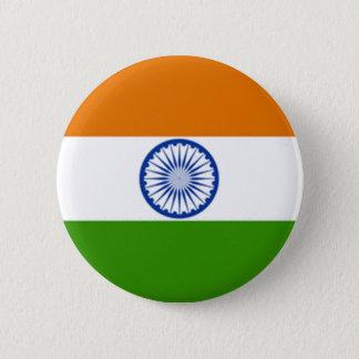 Indian Flag Pinback Button