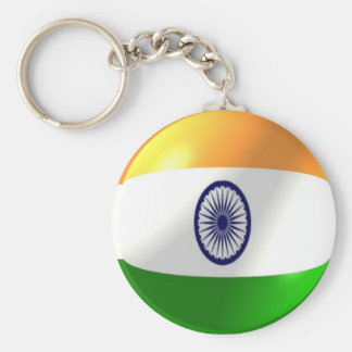 Indian Flag With Bubble Keychain