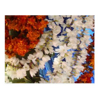 Indian Flower Garlands Postcard