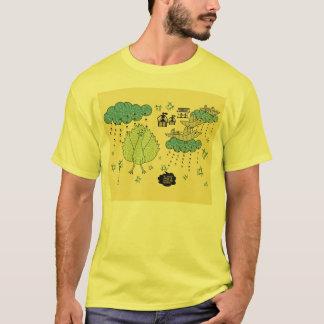 Indian Folk Art Men's Yellow T-Shirt