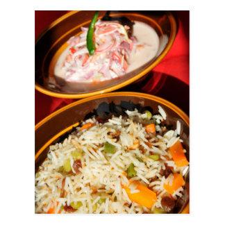 Indian food postcard