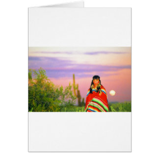 Indian Full Moon Sunset Greeting Cards
