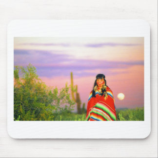 Indian Full Moon Sunset Mouse Pad