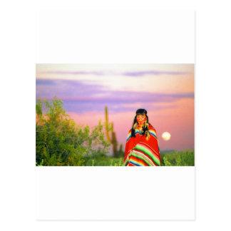 Indian Full Moon Sunset Post Card