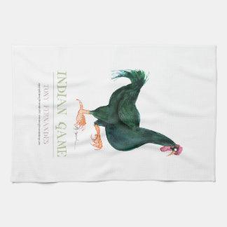 INDIAN GAME HEN, tony fernandes Hand Towels