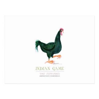 INDIAN GAME HEN, tony fernandes Postcard
