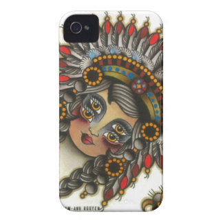 indian girl 3 iPhone 4 Case-Mate cases