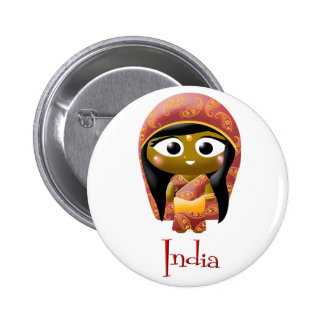 Indian Girl Button