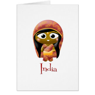 Indian Girl Card