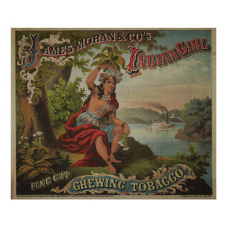 Indian Girl Chewing Tobacco [1874] Poster