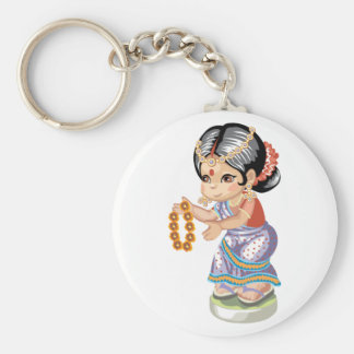 Indian Girl Keychain Key Chain