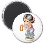 Indian Girl Magnet Magnets
