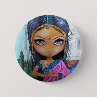 indian girl pinback button