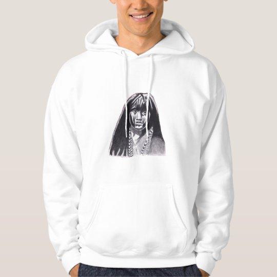 indian girl sketch by james lubera hoodie