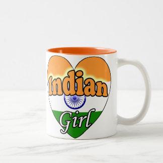 Indian Girl Two-Tone Coffee Mug