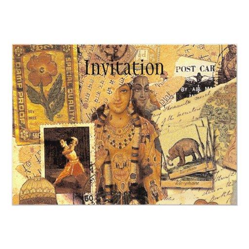 Indian Glories 5x7 Paper Invitation Card
