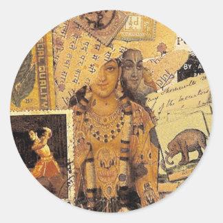 Indian Glories Classic Round Sticker