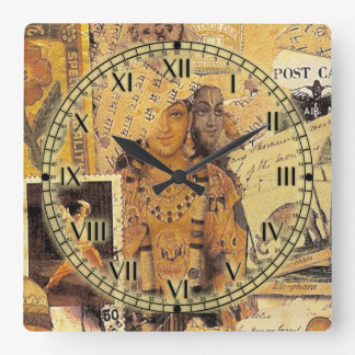 Indian Glories Square Wall Clocks