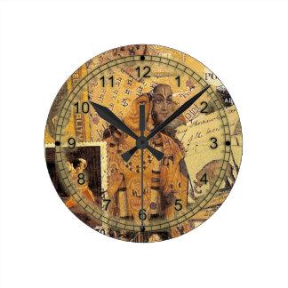 Indian Glories Round Clock