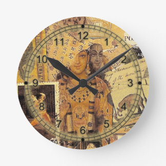 Indian Glories Round Clock