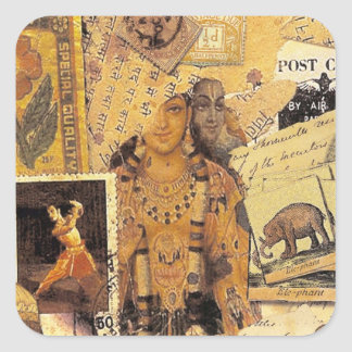 Indian Glories Square Sticker