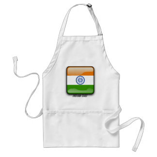 Indian glossy flag adult apron