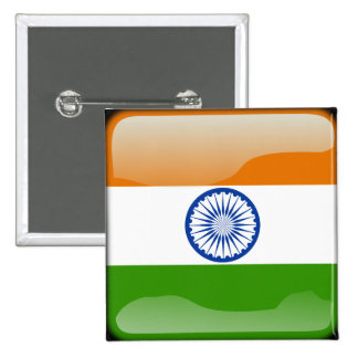 Indian glossy flag button