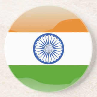 Indian glossy flag coaster