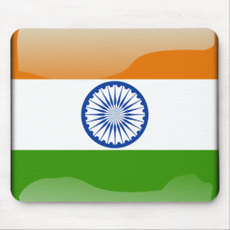Indian glossy flag mouse pad