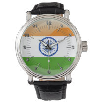 Indian glossy flag wristwatch