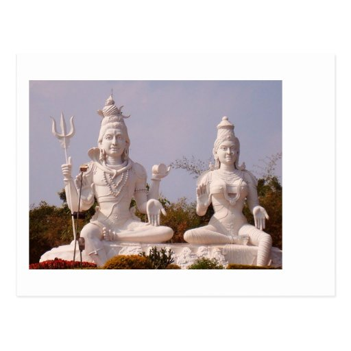 Indian God - Shiva and his wife - Parvati Postcard