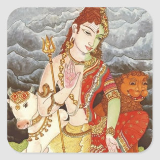 indian god square sticker