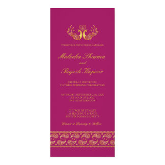 Modern Indian Wedding Invitations Announcements Zazzle