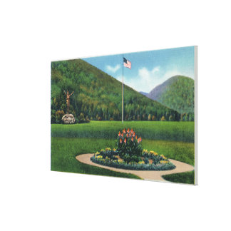 Indian Greeting the Rising Sun Statue Gallery Wrap Canvas
