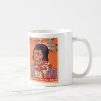 Indian Gum Card Pot-O-Wat Retro Vintage Kitsch Coffee Mug