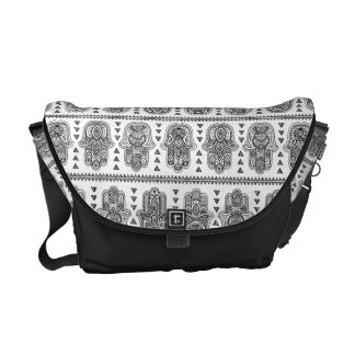 Indian Hand Drawn Hamsa Doodle Courier Bag