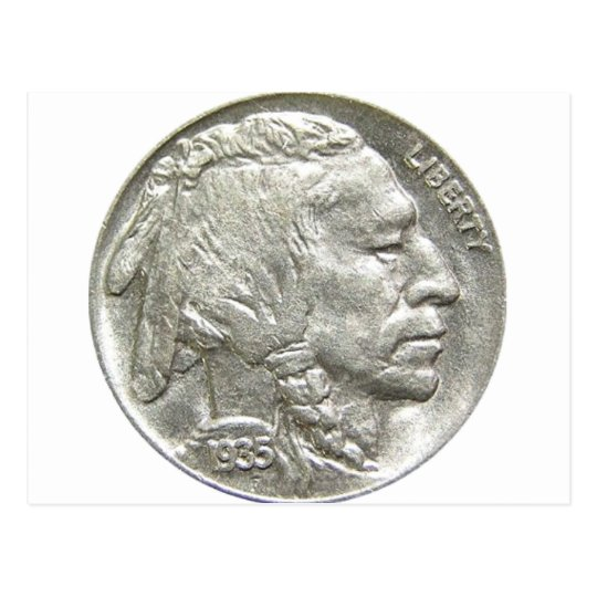 INDIAN HEAD NICKEL POSTCARD