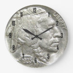 INDIAN HEAD NICKEL WALL CLOCK