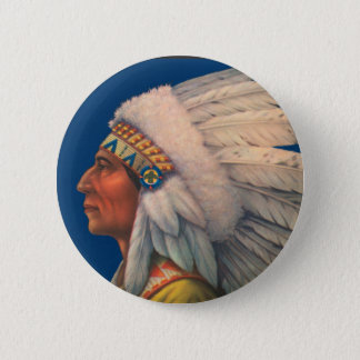 Indian Head Pinback Button
