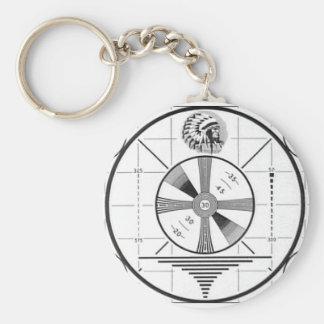 Indian Head Television Test Pattern Keychain