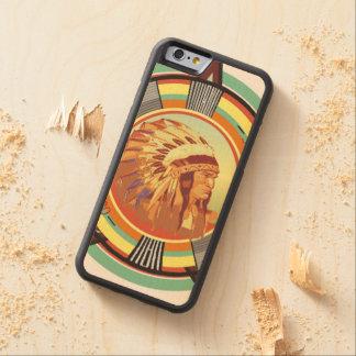 Indian Head Test Pattern 2 Wood Case Maple iPhone 6 Bumper