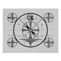 Indian Head Test Pattern Poster