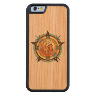 Indian Head Test Pattern Wood Case Carved® Cherry iPhone 6 Bumper